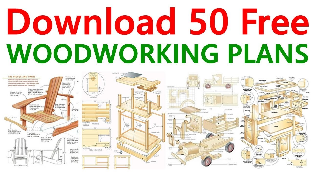 Download 50 Free Woodworking Plans & DIY Projects - YouTube