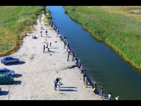 В Геническе впервые в таком масштабе прошли международные соревнования по рыбной ловле