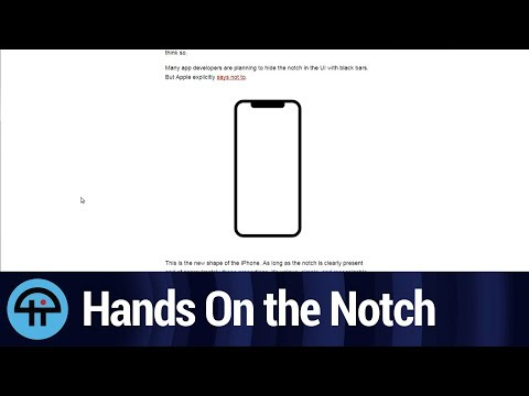 Here's What the iPhone X Notch is Like IRL