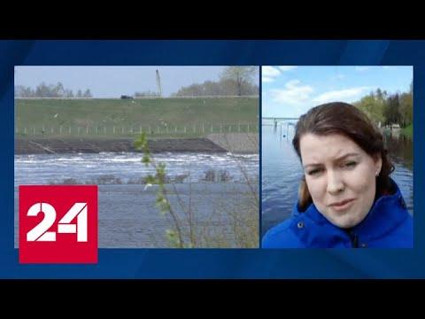 В Волге поднялась вода, подтопило набережные Рыбинска и Ярославля - Россия 24