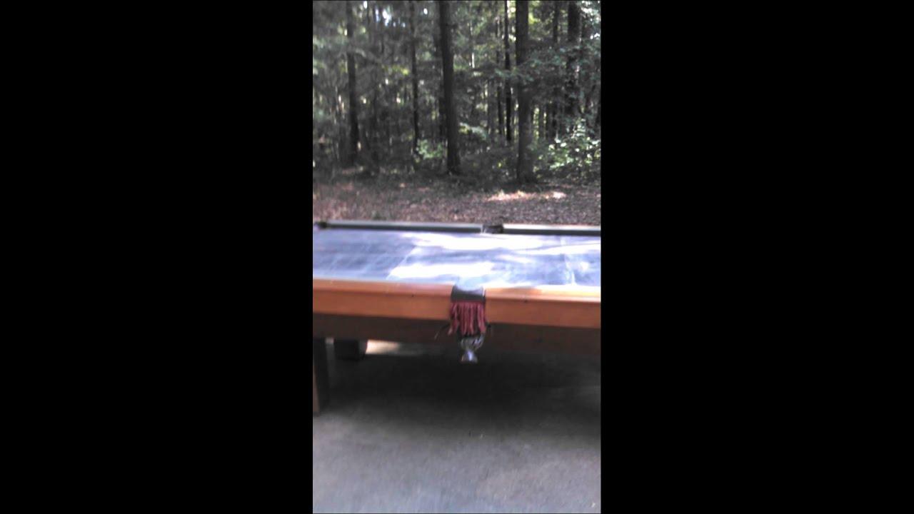 "pool table - 8' leisure bay ""manatee"" - youtube"