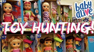 Target DOLL HUNT BABY ALIVE , CABBAGE PATCH KIDS, BOTTLE SQUAD 2017