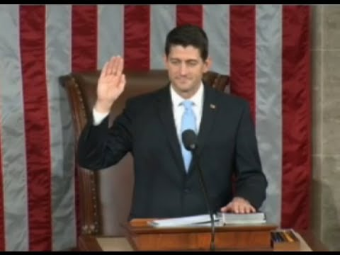 Paul Ryan Elected House Speaker Ceremony FULL