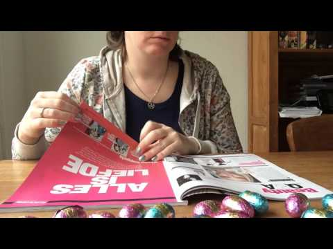 ASMR relaxing / slow page turning through some magazines