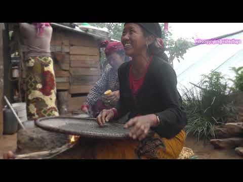 lifestyle food cooking magar village ramkot people house living rural mountain nepali entertainment