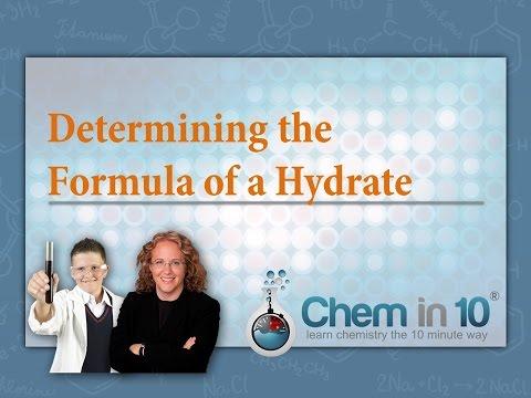 Determining The Formula Of A Hydrate | Melanie Fine Of Chem In 10