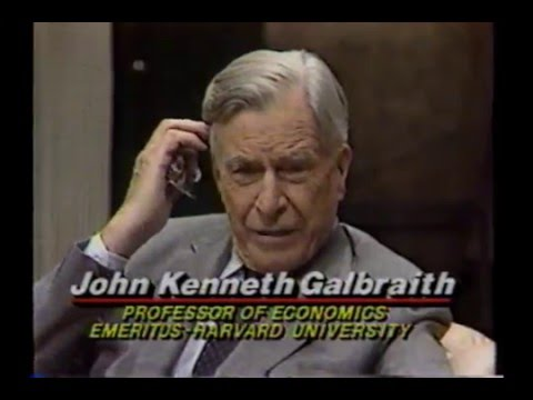 Pt 1* - Wall Street Week **John Kenneth Galbraith** (1989 - Sept 8)