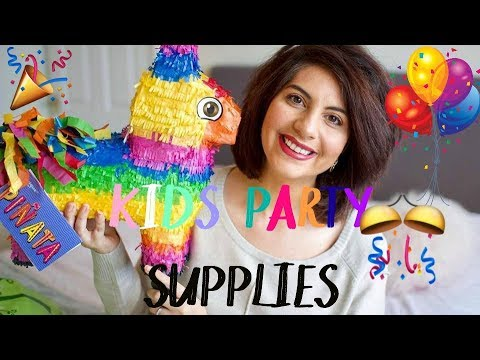 Kids Party Supplies Haul | Poundland, Home Bargains, Party Pieces & MORE | Natasha Summar
