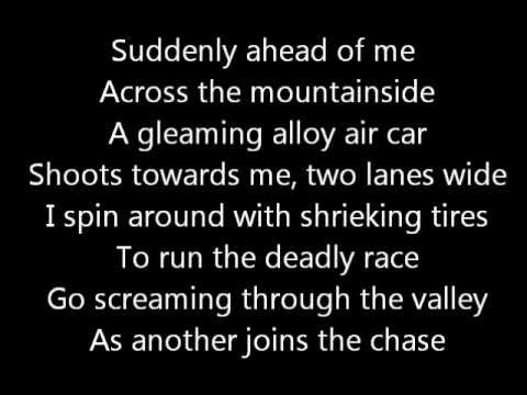 Rush-Red Barchetta (Lyrics)