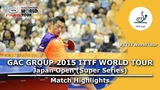 Japan Open 2015 Highlights: FAN Zhendong vs XU Xin (1/2)