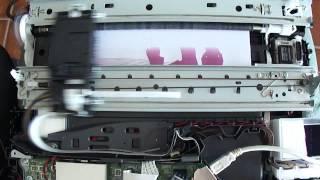 Impressão com Brother DCP-145C desmontada