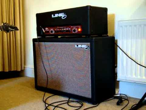 Line6 Flextone Head guitar amplifier with Line6 2x12 stereo ...