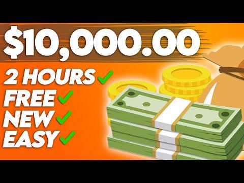 Earn $10,000 For Free   Full Make Money Online Tutorial (2021)