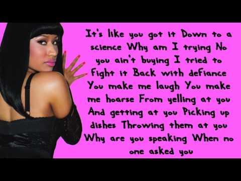 Nicki Minaj - Right Thru Me Lyrics