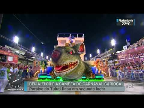 Beija-Flor é a grande campeã do Carnaval do Rio de Janeiro | SBT Brasil (14/02/18)