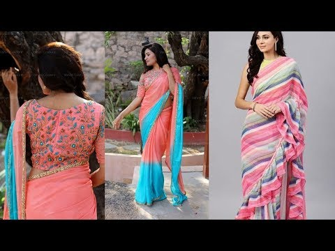 Designer Saree For Party Wear 2019 | Indian Saree Designs 2019