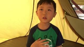텐트에서 중국집 전단