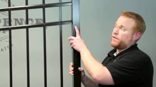 Racking an Aluminum Fence Panel to Follow Yard Grade