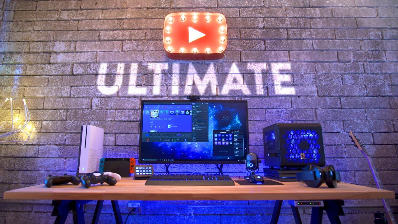 Ultimate Game Streaming Setup Amp Desk Tour Youtube