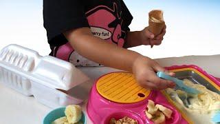 まぜまぜアイスクリーム屋さん トッピングでリアルアイス屋さんごっこ Ice Cream toy
