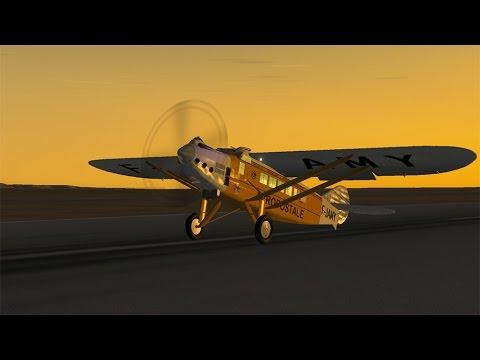 X Plane 10 Le Latécoère 28 survole Goulimine à destination de Dakar
