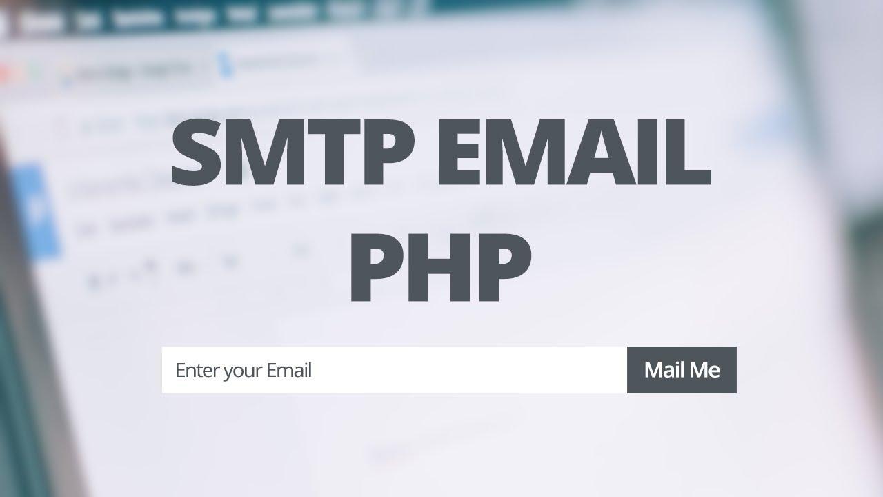 SMTP API | Send SMTP EMail Swift Mailer PHP
