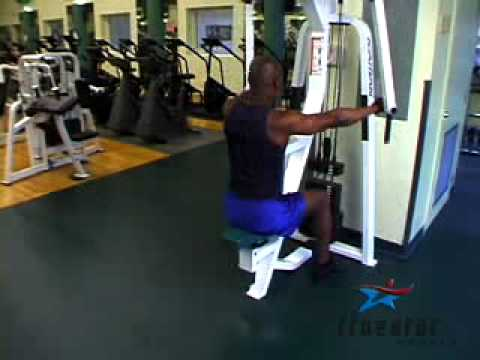 Rear Delt Laterals (pec dec machine) Adult Male - YouTube