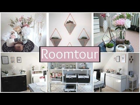 HOME ROOMTOUR WOHNZIMMER 2017 ● weiß | rosegold - Kupfer | Marmor | geometrisch