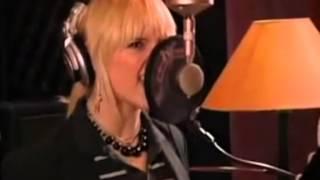 Ashlee Simpson recording Surrender (Demo) in Studio