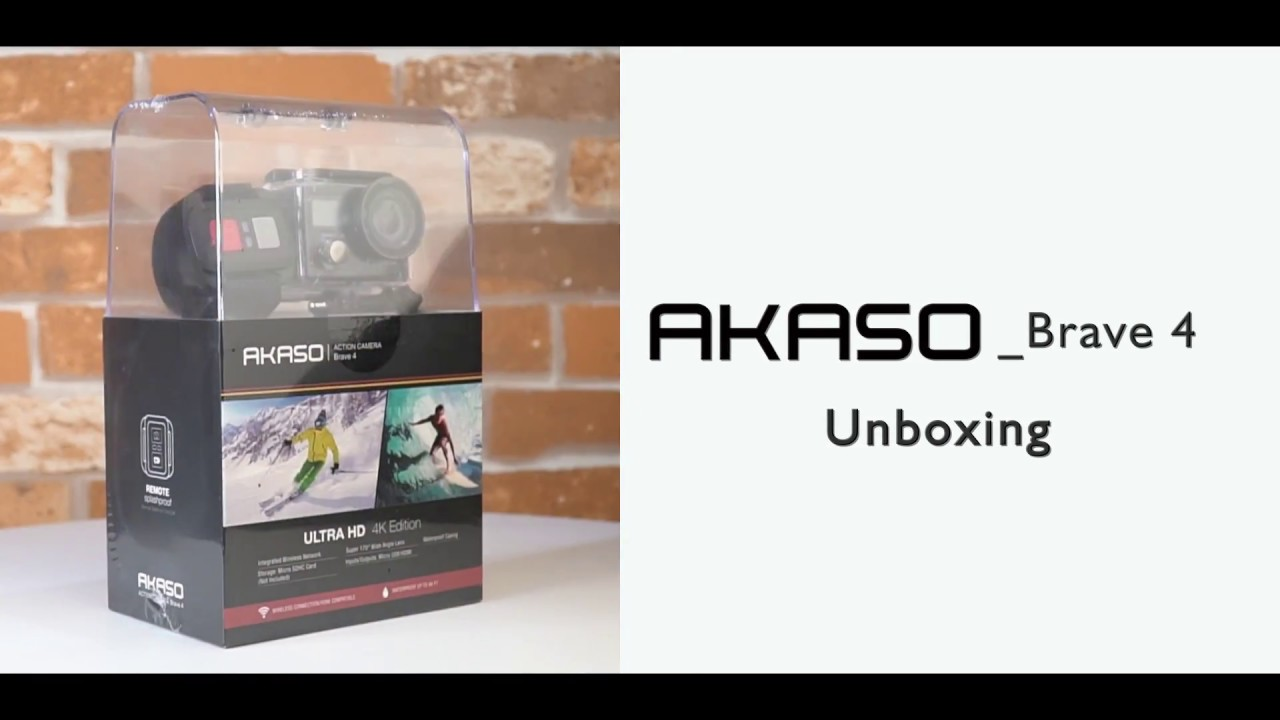 Akaso Brave4 Action Camera Unboxing By Akasoofficial