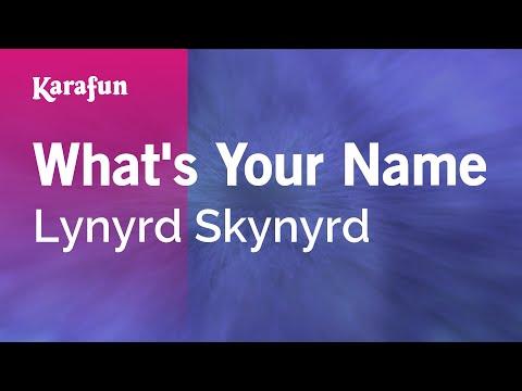 Karaoke What's Your Name - Lynyrd Skynyrd *