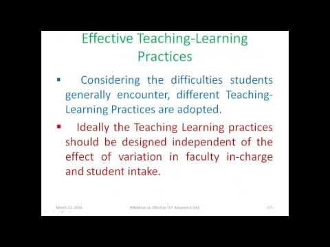 Effective Teaching Learning Practices Adopted in Signals and Systems SAS Course