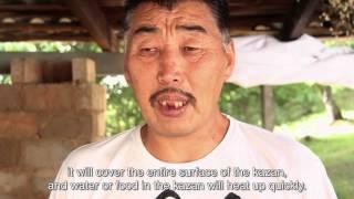 Видео Очок с  английскими субтитрами(Обучающее видео по строительству наружней печи для приготовлении пищи
