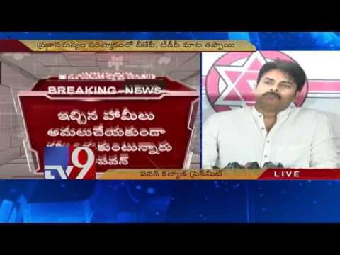 Pawan Kalyan Press Meet on AP Special Status Fight - TV9