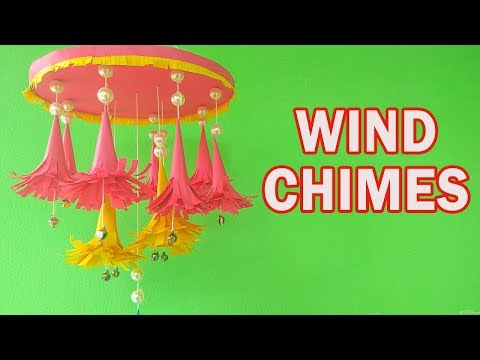 DIY Wind Chimes with Paper | Wall hanging craft ideas | CraftBlossom