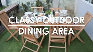 Tips & Tricks: Classy Outdoor Dining Area | MF Home TV