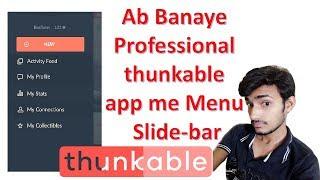 Yan Thunkable uygulaması oluştur Menü Yapmak #1 bar slayt Menü Ab Banaye Profesyonel thunkable uygulaması bana