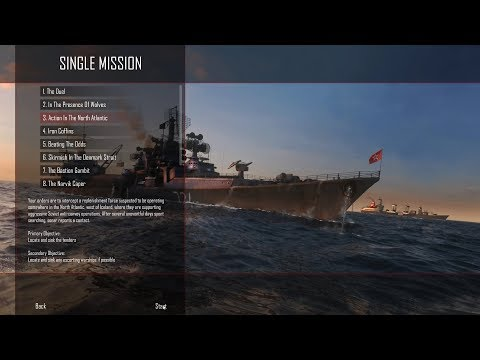 Cold Waters ELITE difficulty - single mission 3 - Action In The North Atlantic