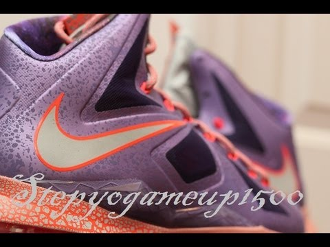 2a570858aec Nike Lebron 10 Area 72 Extraterrestrial Review - YouTube