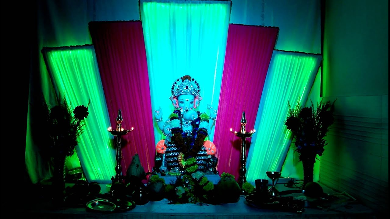 Deepak pathade ganpati bappa home decoration youtube for Home decorations youtube