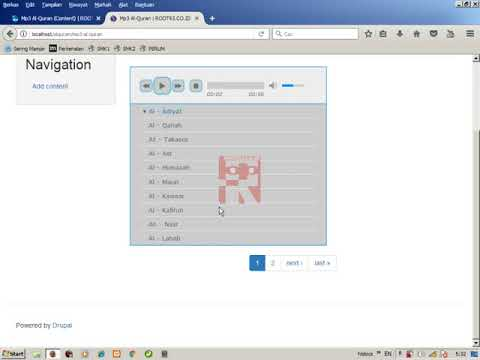 Drupal Al-Quran Mp3 Player -4- Menampilkan Konten Mp3 Menggunakan Views part I