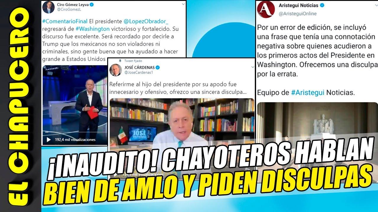 Chayoteros se tragan su orgullo y ¡hablan bien de AMLO!