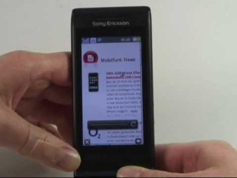 Sony-Ericsson Aino Test Internet