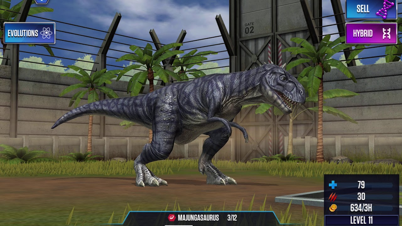 Jurassic world the game ep 1:level 30 hybrid doing good? Comment below!
