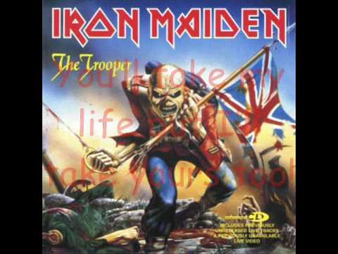 The Trooper by Iron Maiden with lyrics