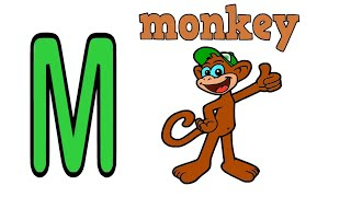 The Letter M | Monkey Drawing for Kids | Alphabet Coloring Pages
