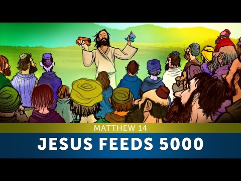Jesus Feeds 5000 - Matthew 14 | Sunday School Lesson & Bible Story For Kids |HD| Sharefaithkids.com