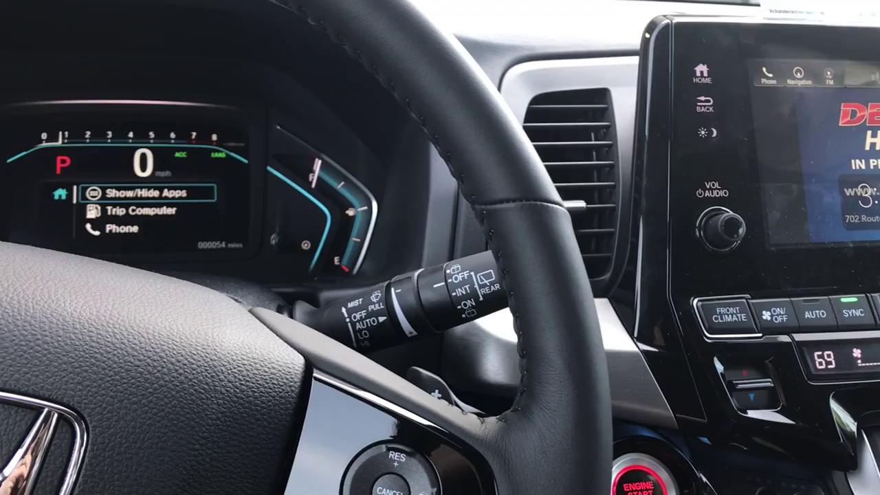 Della Honda Plattsburgh >> 2018 Honda Rain Sensing Wipers - YouTube