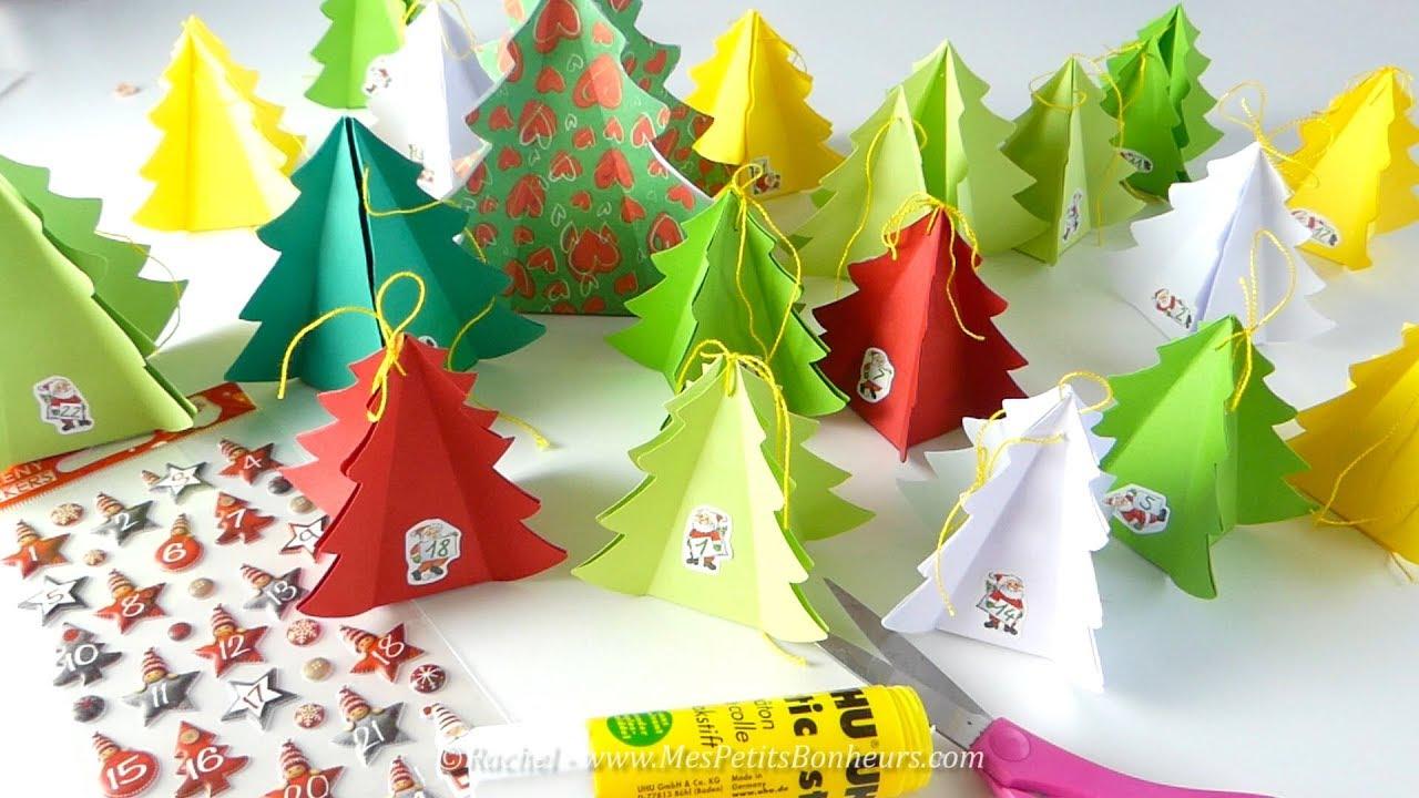 Diy calendrier de l 39 avent en boites sapins imprimer et - Decoration de noel a decouper gratuit ...