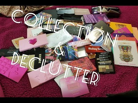 Eyeshadow Palette Collection and Declutter 2018